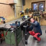 Konstruktion Reifenwalze für Wegepräparierung in der Schlosserei