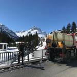 Unimog 400 mit Kanalreinigungsgerät, Spritzbalken, Brückenreinigung Stubenbach