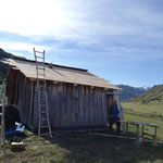 Hütte Flexenarena, Dachsanierung