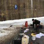 Kanaldeckel sanieren für Winterdienst, Angerauffahrt