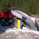 Waldbad Lech - Kiesschüttung für Bodenplatte