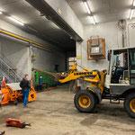 Winterdienstgerätschaften reinigen und in der Garage versorgen
