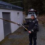 Zaun Waldbad, Steher gerade ziehen Technikraum Kinderbecken