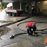 Leitungsbau Bauhof-Vorplatz: Rohr anpassen
