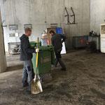 Bauhof Müllsammelstelle aufräumen