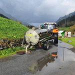 WC-Grube leeren Formarinsee, Entleerung Kanalisation