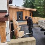 Sitzbank und Geländerbau Rampe Feuerwehrhaus
