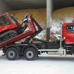 Transport Pistenbully mit U530, Heizwerk Zug