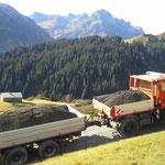Wegebau Bürstegg-Wannenkopf in Zusammenarbeit mit unseren Kollegen vom Bauhof Warth