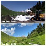 Schnee von gestern: Schneeräumung 2019 mit Lader 509 Richtung Bürstegg