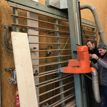 Elektroreparatur an Plattensäge Tischlerei
