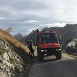 Schneestangensetz-Start in Oberlech, mit U400