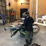 Arbeiten in der Tischlerei