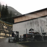 Material für Philosophicum Zeltaufbau laden am Bauhof