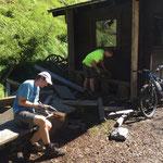 Ausnageln Holz Tipizelt Waldcamp