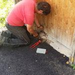 WC's vorbereiten Alpe Formarin/Spullersee