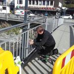 Arlberg Brücke: Beleuchtungsmasten nach Baustellen wieder montieren