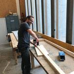 Sockelleisten für Lechmuseumvitrine fertigen