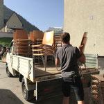 Stuhltransport für Arlberg Classic Car Ralley