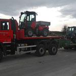 Holdertransport  von zwei Stück C70 SC von der Firma Kugelmann Maschinenbau, Deutschland in die neue Heimat: Bauhof Lech :-)  mit U530