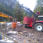 Neubau vordere Butzenbrücke: Brückenfundamente betonieren