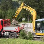 Wehr ausbaggern Kracherbach