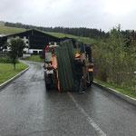 Abbau Tennisplatzgitter Hotel Arlberg für ACCR 2018