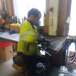 Rahmenteil reparieren von Unimog 1600