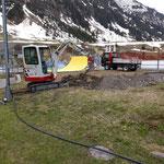 Wasserleitung Sprenkleranlage Fußballplatz