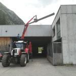 Kranarbeiten am Bauhof