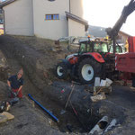 Wasserleitungsarbeiten in Zürs, Gemeindehaus