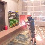 Schweissbrennarbeiten am Bauhof (für Rohrlager neu am Bauhofdach)