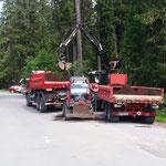 Transport zum Engerlewald und umladen auf Holder