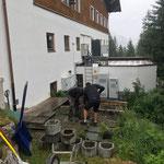 Feuerwehrhaus, Abbau Terrasse