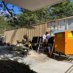 Fassade Zugang Kinderbecken Fortschritt