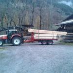 Holz von Sägerei in Dalaas abholen