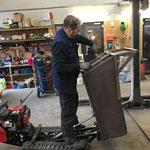 Raupenkipper, letzte Verbesserungsarbeiten und vorbereiten zum Verzinken