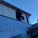 Bauhof-Flugdach-Rückverkleidung fertig stellen