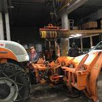Steyr 6200 CVT Pflug vorbereiten