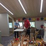 Umbau Dachboden Haus des Kindes, Stellen der Rigipswände