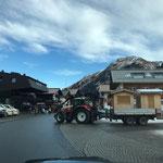 Weihnachtsmarkt Lech - Abbau: Hüttenabtransport