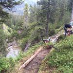Spullerbachweg: Wegebau