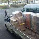 Transportdienst für Lechmuseum, Material abholen in Bregenz