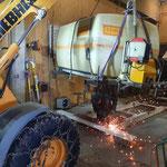 Neuer Aufbau Waschtank und Pumpe für Unimog 530 konstruieren