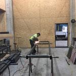Lagerwagen für Bauhof konstruieren in der Schlosserei