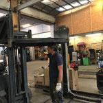 Reparaturarbeiten Mulde Unimog 1600
