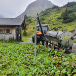 Grube leeren WC Umkehrplatz Alpe Formarin