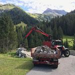 Material greifern Liftbau Feuerwehrhaus