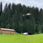 Betonieren mit Wucher Helikopter