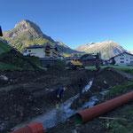 Drainagierung und Rohrverlegung für geplanten Winterwanderweg Anger